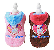 Dog Coat Brown / Pink Dog Clothes Winter Fashion