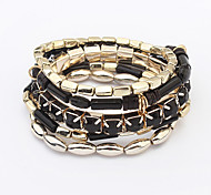 Women European Fashion Multilayer Colorful Strand Bracelet
