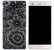 flores en racimos pintura Mobile Shell funda protectora cáscara suave de TPU transparente patrón para Huawei p8 Lite