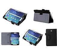 soportar la correa de lujo PU de la cubierta caja de cuero de la mano de Samsung galaxy tab s2 tableta de 8 / T710