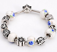 Fashion Jewelry Bracelets&brangle Glass European Beads bracelets for Women Gift Strand Beads bracelets BLH097