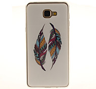 Colored Feather Patterns TPU+IMD Soft Case for Samsung Galaxy A9/A9000