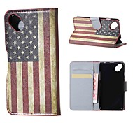 US Flag Magnetic PU Leather wallet Flip Stand Case cover for Wiko sunset2