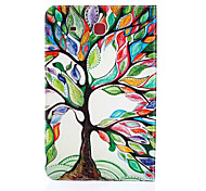 Colorful Tree Pattern PU Leather Material Tablet Sleeve for Samsung Galaxy Tab E 9.6 (T560)
