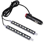 автомобиль декоративные лампы атмосфера заряд водить для внутренней отделки помещений от пола свет с мини-диммер водить одиночный цвет