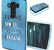2-in-1 Love to the Moon Pattern TPU Back Cover with PC Bumper Shockproof Soft Case for LG V10/G4 Pro
