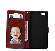 Crazy Horse Lines Pattern PU Material With Photo Frame Stent Holster For P8 Mini