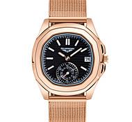 Mulheres Relógio de Moda Quartz LED / Calendário / Impermeável Aço Inoxidável Banda Vintage Preta / Branco / Vermelho / Marrom / Dourada