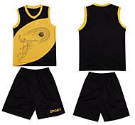 New Basketball Jerseys Boys Breathable Blank Sports Knit Wear Basketball Shirts Short Set for Men