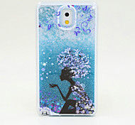 The Flower Fairy Painted Quicksand PC Phone Case For Samsung Galaxy Note3/Note4/Note5 + A Touch Screen Pen