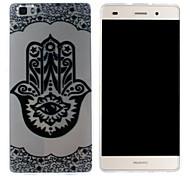 Mobile Shell funda protectora cáscara suave de TPU transparente patrón de flor de ojo para Huawei p8 Lite