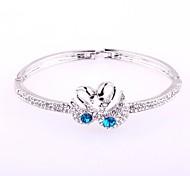 Hot New Charming Lovely Simple Bling Elegant Swan Bracelet Bangle Party Jewelry For Women