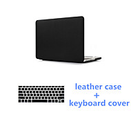 2016 Newest Black PU Leather Fold MacBook Case with Keyboard Flim for MacBook Pro 15.4 inch