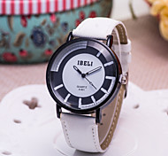 Ladies' Fashion Watch Japan And South Korea The New Black And White Cross PU Leather Quartz Watch(Assorted Colors)