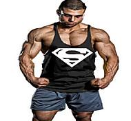 Mens GYM Super Man Print Stringer Bodybuilding Gym Tank Tops