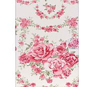 rosas couro folio caso tampa do suporte com suporte para o ar ipad