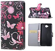 цветы и бабочки магнитного пу кожаный бумажник флип стенд чехол для Lumia 650 майкрософт