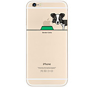 "Originality Design Puppy Shepherd Dog Eat""Apple""Light TPU Phone Case for IPhone 6/6s"