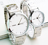 Couple of sheet steel with han edition contracted fashion female table Men's watch watch fashion students Cool Watches Unique Watches