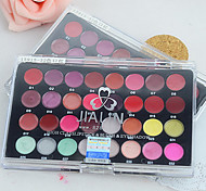 pro 32 cor lip gloss batom cosméticos conjunto paleta + 10pcs vara esponja dupla (pincel de sombras + pincel de lábios)