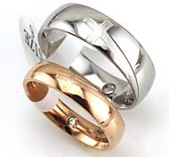 Anelli Matrimonio / Feste / Quotidiano / Casual Gioielli Acciaio al titanio Coppia Anelli per coppie 1 pezzo,5 / 6 / 7 / 8 / 9 / 10