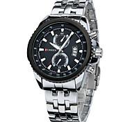 Men CURREN watch Quartz Waterproof Sports Watch Calendar Genuine Stainless Steel Wristwatch (Assorted Color) Wrist Watch Cool Watch Unique Watch