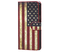 For Samsung Galaxy Case with Stand / Flip Case Full Body Case Flag PU Leather Samsung J5 (2016)