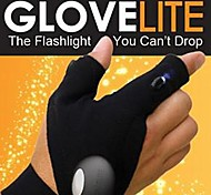 Waterproof Reparing Glove,fishing Glove, Rescue Gloves with Finger Lights for Outdoor Darkness Situation