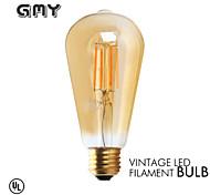 1 Stück GMY E26 3W 4 COB ≥300 lm Warmes Weiß ST21 edison Vintage LED Glühlampen AC 110-130 V