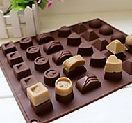 Moule de Cuisson Pour Gâteau Pour Bonbons For Chocolate Silikon Ecologique Bricolage 3D