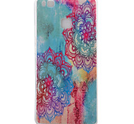 Flower Pattern TPU Phone Case For Huawei Ascend P9 / P9 Lite
