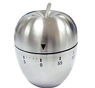 Stainless Steel Egg Shaped Timer Metal 60 Minutes Mechanical Kitchen Alarm Cook