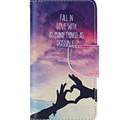 Loving Hand Painted PU Phone Case for Sony Xperia Z5 Compact/Z5