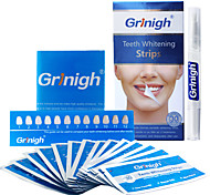 Grinigh® Teeth whitening Strips plus Whitening Pen - Professional Teeth Whitener Home Kit Includes NATURAL Ingredients