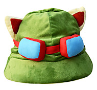 League of Legends Dark Green,Light Green Corduroy Cosplay Hat