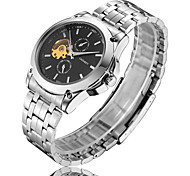 Men's Watch  LAGMEEY High-Grade Fashion Steel Strip Full Automatic Mechanical Platinum Shi Earth Watch Cool Watch Unique Watch