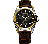 Men's Watch A High-Grade Commercial Super Waterproof Hollow Mechanical Belt Watch Wrist Watch Cool Watch Unique Watch