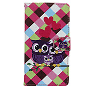 Owls Pattern PU Leather Full Body Case with Stand for Wiko Fever