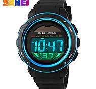 Reloj digital Digital Banda Dorado Morado Azul