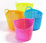 2PCS Creative Home Mini Desktop Multi-Purpose Grid Receive Basket Portable Basket (Random color)