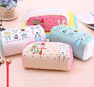 Greedy Rabbit High-Capacity Contracted Pen Bag Lovely Cloth Art Pencil Case