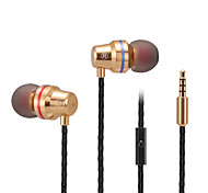ABINGO S500i Metal Earbuds Bass Earphones Stereo Cell Phone Headset with Microphone for Smartphone