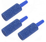 Pack of 3 Cylinder Air Stone Bubble Diffuser for Aquarium Fish Tank Decor Blue