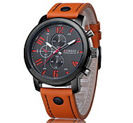 CURREN® Men's Fashion Dress Watch Japanese Quartz Leather Strap