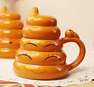 1шт творческая прихоть золота кормы чашки две тысячи керамической чашки личности (случайный стиль)