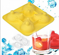 Laying Eggs Silicone Ice Box Muffin Egg Ice Cube Tray Mold Jello Mould Party Drink(Random Color)
