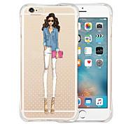 favoritos da rainha parte traseira do silicone caso macio transparente para iPhone 6 Plus / 6s mais (cores sortidas)