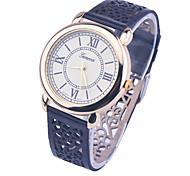 2016 Brand New Geneva Watch With PU leather Skeleton strap FOR Ladies Women Men Watch Quartz Watches Relogio Feminino