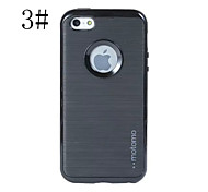 MOTO 3 in 1 Luxury Brushed TPU  protection Shockproof case for iphone 5/5S
