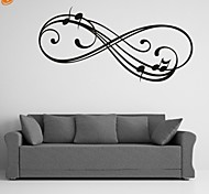 AYA™ DIY Wall Stickers Wall Decals, Music Note PVC Wall Stickers